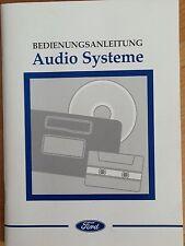 FORD AUDIOSYSTEM Radio RDS 1997 Betriebsanleitung 1000 3000 4000 5000 6000 7000