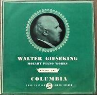 Gieseking Mozart Piano Works vol.2. Columbia 33cx 1142 B/G UK