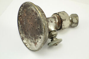 "Antique Nickle Plate Brass & Copper 4"" Shower Head Circa 1910's"