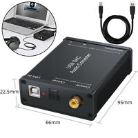 USB DAC Audiokonverter Audio Soundkarte USB zu Koaxial S / PDIF Konverter Amplif