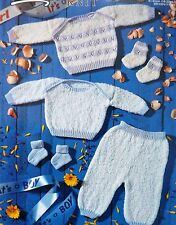 """Baby Knitting Pattern Vintage Pull/Pull Leggings Chaussettes 16-20""""/41-51 cm P804"""