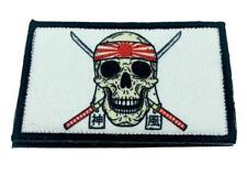 Skull Banzai Swords Embroidered Airsoft Paintball Cosplay Patch