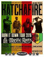 "Katchafire / Mystic Roots Band ""Burn It Down Tour 2016"" Portland Concert Poster"