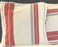 Ralph Lauren Pillow Shams Euro - Red & Black Stripe on Cream -  A Pair