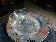 "Vintage 1960 BADCOCK FURNITURE Glass Bowl Advertisement Collector 8"" X 5"""