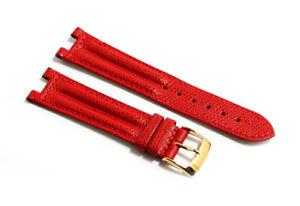Cinturino orologio vera pelle rosso compatibile breil pareo tribe 20mm watch