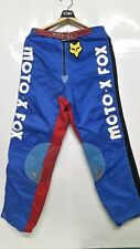 Vintage Motocross MOTO-X FOX Buckle Pants Size 34 Rare Item
