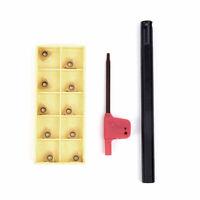SNR0010K11 Lathe Threading Boring Turning Tool Holder W/ 10 Pcs 11IR A60 Inserts