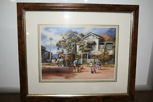 """dÁrcy.W.Doyle Art Print Titled """"For Keeps """" Children playing Marbles in street."""