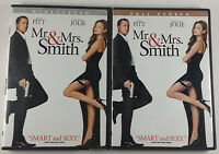 Set of 2 Mr and Mrs Smith DVD 2009 2005 Widescreen & Full Screen Brad Pitt