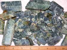 Aquamarine rough crystal deep blue Zambia bigger pieces 1/8 pound 1-12 piece