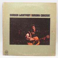 Vintage Gordon Lightfoot Sunday Concert Record Album Vinyl LP UAS 6714