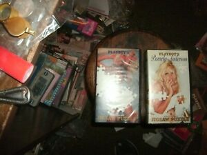 TWO (2) Vintage 1996 Playboy's pamela anderson jigsaw puzzles one complete 1 not