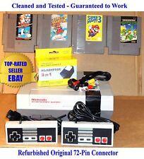 NES Console Bundle + Mario Bros 1 2 3 & Teenage Mutant Ninja Turtles - Working