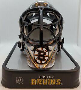 Jeremy Swayman Dan Vladar Boston Bruins DUAL signed Mini goalie mask