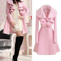Women's Lolita Girls Winter Warm Slim Coat Trench Jacket Sweet Windbreaker Parka