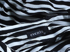 EVENTS 2WayFrontZipMonochromeStretchAnimalStripe Size12 as NEW