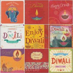 Diwali Glitter Finish Single Greeting Card