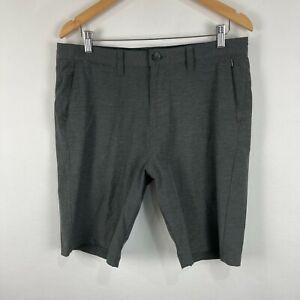 Billabong Mens Shorts 34 Grey Zip Closure Pockets Slim Fit Submersibles