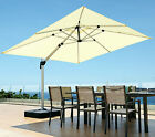COMMERCIAL PARASOL AND BASE SET SUN SHADE CANOPY IDEAL FOR PUB CAFES RESTAURANTS