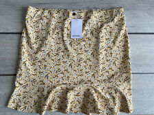 Monkl Skirt Yellow And White Flowers Size XL New With Tag