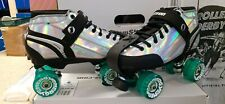 Jackson Supreme Metallic Hollagram Roller Skates w/ Radar Outdoor wheels Mens 8