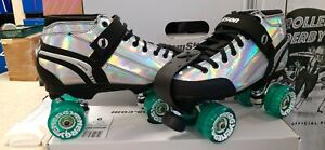 Jackson Supreme Metallic Hollagram Roller Skates w/ Radar Outdoor wheels Mens 11