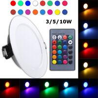 Dimmbar RGB LED Panel Einbaustrahler Deckenleuchte 3W 5W 10W mit Fernbedienung