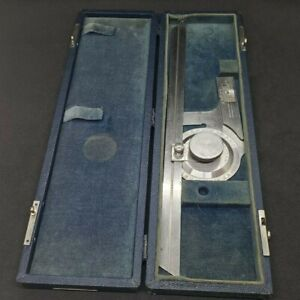 """Brown And Sharpe Universal Bevel Protractor With 12"""" Blade #495 w/ Case"""