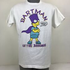 Vintage Bartman of the Bahamas The Simpsons Fruit of the Loom T Shirt White