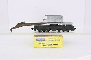 Athearn HO Scale 200 Ton Wrecking Crane Big Hook All Metal Missing Cab Shell