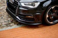 Front Lip Splitter Bumper Spoiler for Audi A3 S line S3 8V 2013-2015 body part