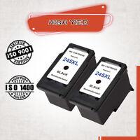 2 Black PG-245XL Ink Cartridge For Canon Pixma MX490 MX492 IP2820-High Yield