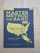 MASTER METHOD FOR BAND - LESSON BOOK 1 - Bb SAXOPHONE - by CHARLES S. PETERS