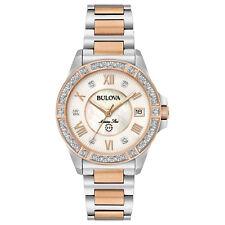 Bulova Marine Star Women's 98R234 Quartz Diamond Accents Two-Tone 32mm Watch