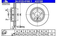 ATE Juego de 2 discos freno Antes 300mm ventilado para BMW Serie 3 Z3