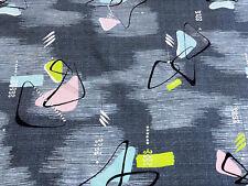 Kinetic Mid Century Atomic Butterflies Barkcloth Vintage Fabric PILLOWS 1950's