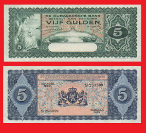 Curacao 5 gulden 1939. UNC - Reproduction