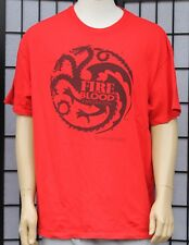 Game of Thrones Fire & Blood Targaryen Red Graphic Tee Size XL