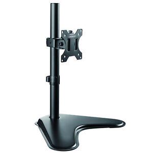 "Freestanding Computer Monitor Mount Single Screen Stand 13-32"" Display TV VESA /"