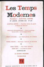 Les TEMPS MODERNES Sartre Schrobsdorff Zeggane Kaplan Terrel & Roy 1983 N°439 EO