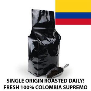 2, 5, 10 LB COLOMBIA SUPREMO FRESH ROASTED COFFEE WHOLE BEAN, GROUND - ARABICA