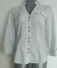 Designer JAEGER casual shirt size 10 --MINT--used once 100%Cotton 3/4 sleeves