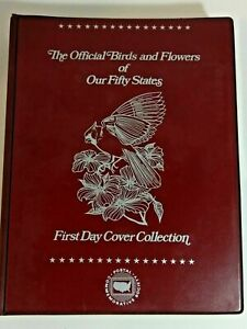 FDC Album Collection of Official Birds and Flowers of Fifty States