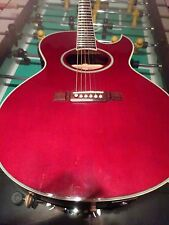 Washburn Single Cutaway Acoustic  Guitar (EA-24WR) Clear Red