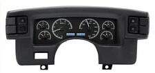 1990-93 Ford Mustang Dakota Digital Black Alloy & White VHX Analog Gauge Kit