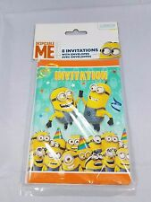 Despicable Me Minions Party Invitations, 16 pack