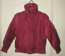 vintage 90s BOGNER logo FUSHIA Purple GOOSE DOWN puffy SKI SNOW JACKET 6 NEW DEF