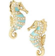 NWT KATE SPADE 12K Gold Plated Paradise Found  Seahorse Stud Earrings  #WBRUC439