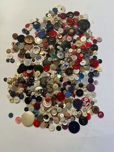 Vintage  All Color  Buttons - red, white, black etc.  Large, Small  1 lb 5 oz.